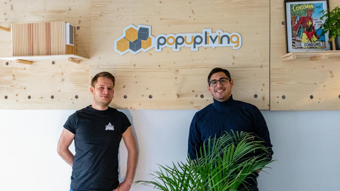 Philipp Linsmeier und Stefan Kapfer von Popup Living