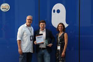 "Gewinner in der Kategorie Innovation: Für das Team ""SmaWin"" nahm Fabian Reimold den Funkenwerk Award 2021 entgegen"