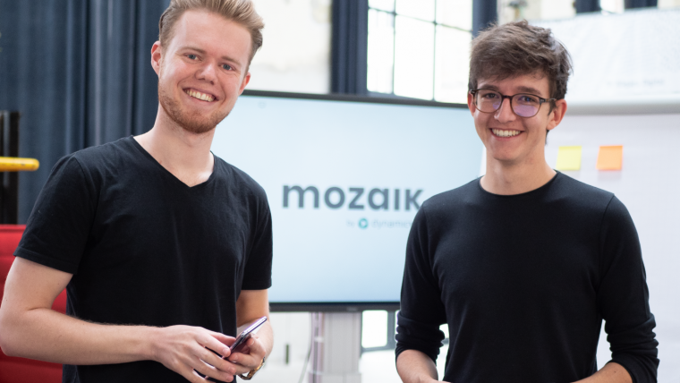 Mozaik-Gründer David Knöbl und Neele Maarten de Vries