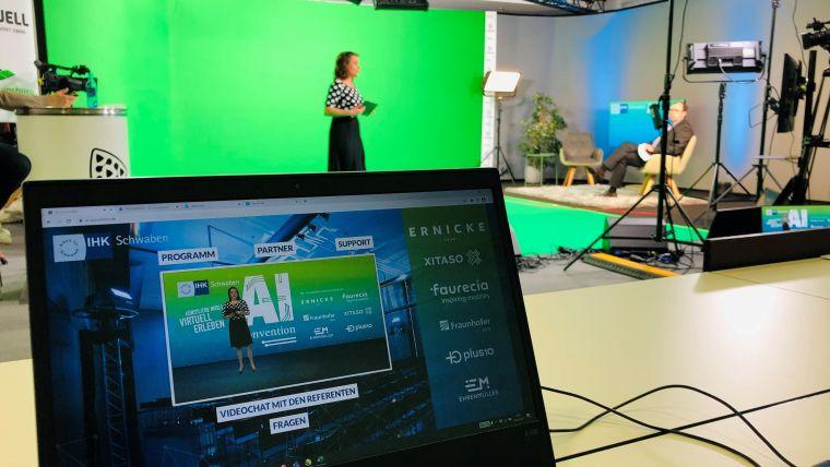 Das Studio von GO-Event! für digitale Veranstaltungen